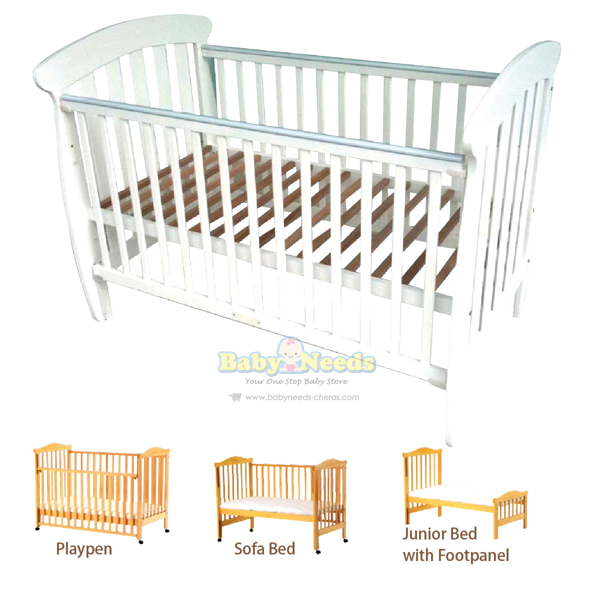 Baby bed online malaysia - Babylove Baby Cot 4 In 1 Convertible 28 X 52 Package Baby Needs Online Store Malaysia
