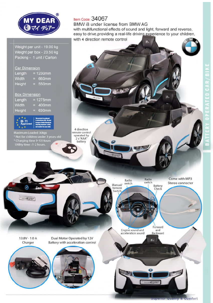My Dear Bmw I8 Battery Remote Control Car Baby Needs Online