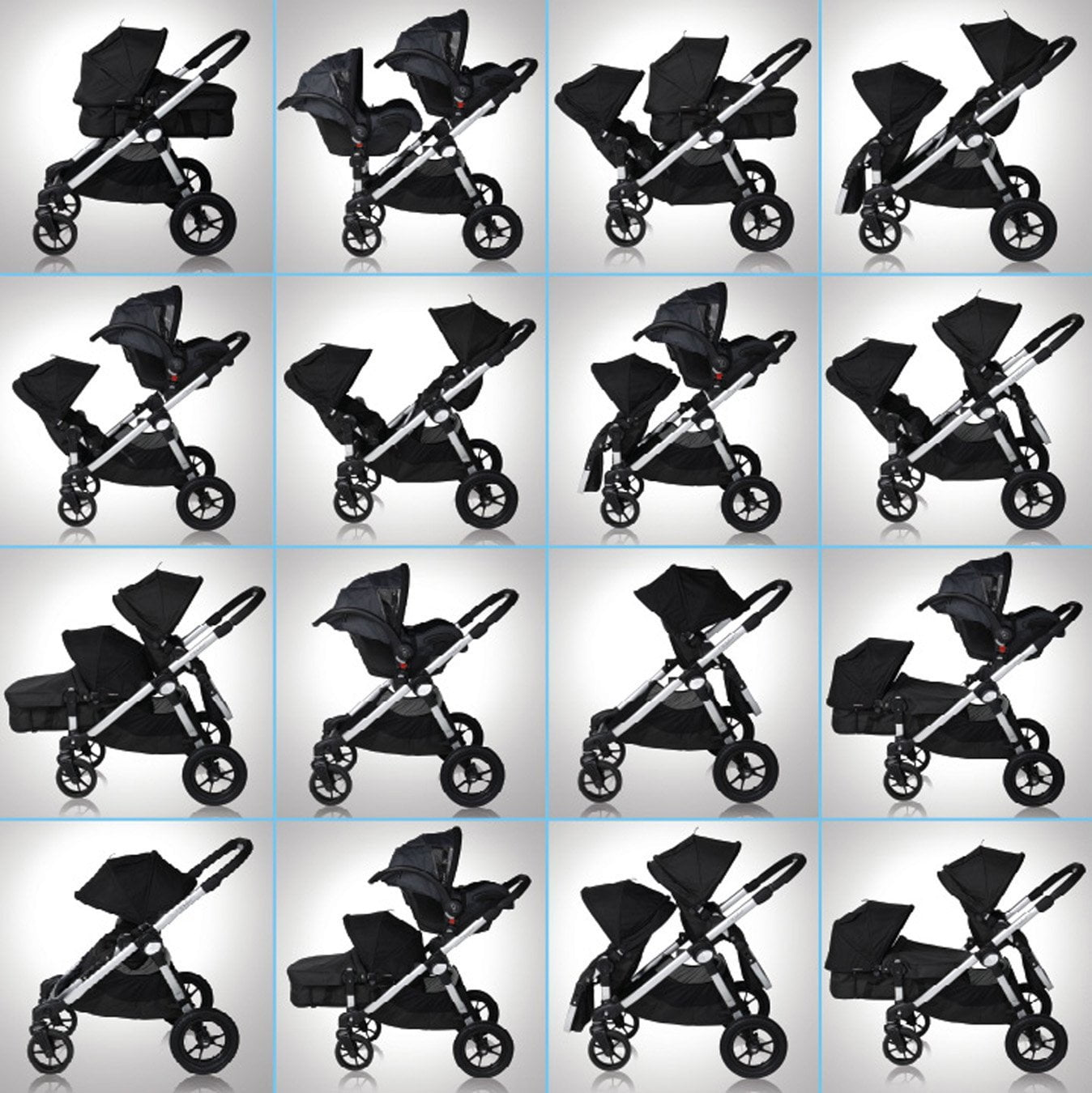 Baby Jogger City Select Twin Stroller Baby Needs