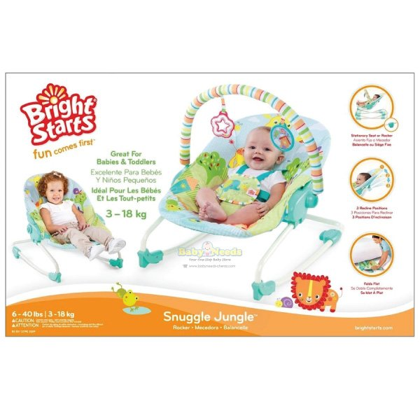 Bright Starts : Snuggle Jungle Rocker | Baby Needs Online ...