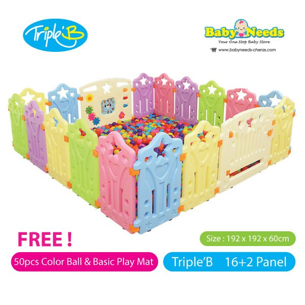 Triple B Safety Play Fence 16 2 Panel Baby Needs