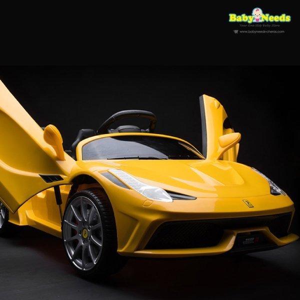 Yellow Ferrari Infant Car Seat