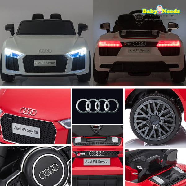 audi r8 kids battery operated electric ride on car baby. Black Bedroom Furniture Sets. Home Design Ideas